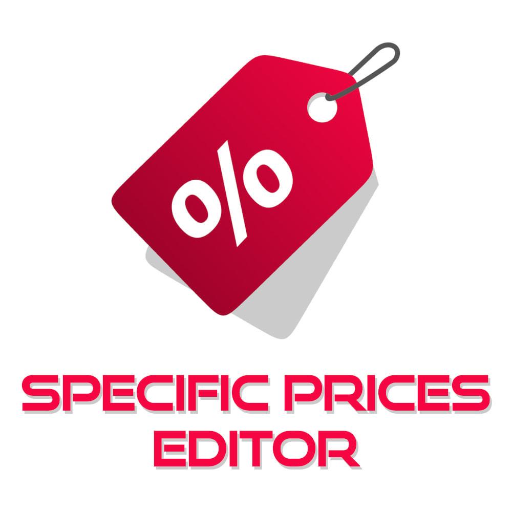module - Быстрое & массовое редактирование - Specific Prices Editor - 1