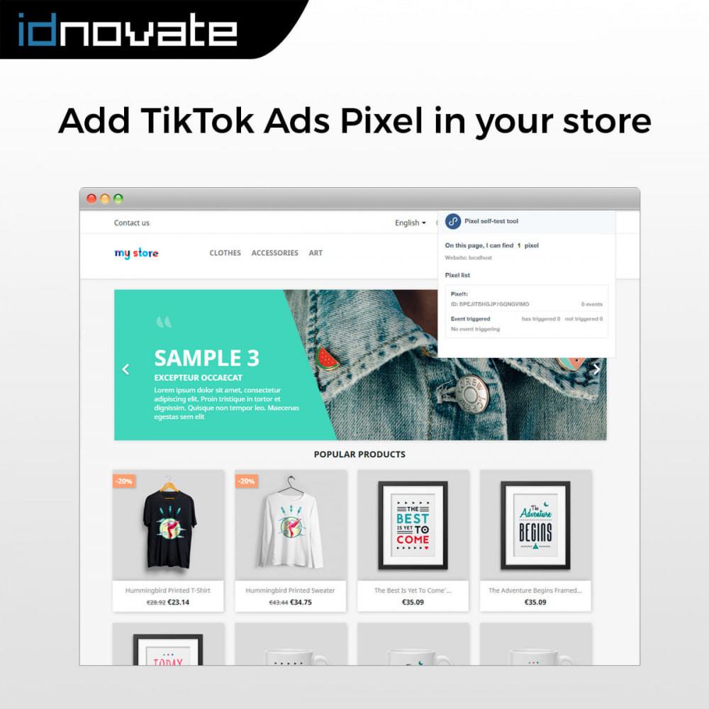 module - Widgets réseaux sociaux - TikTok Pixel -  Track your TikTok ads' impact - 2