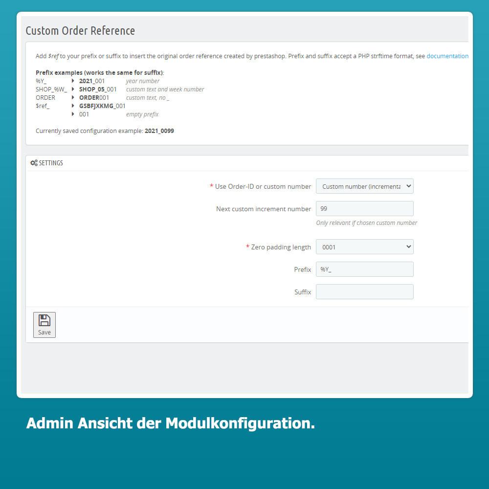 module - Auftragsabwicklung - Custom Order Reference - Individuelle Bestellreferenz - 2