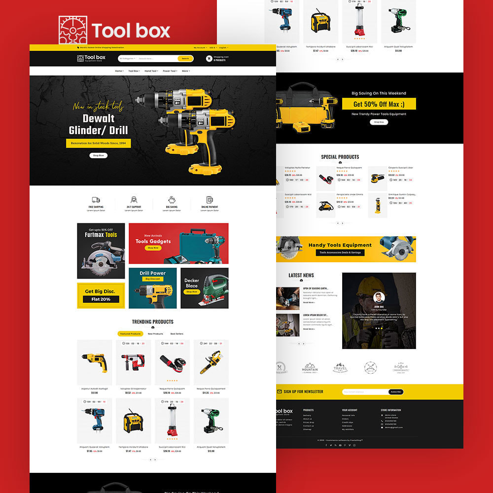 theme - Electronics & Computers - ToolBox - Drill Tools & Equipment - 3