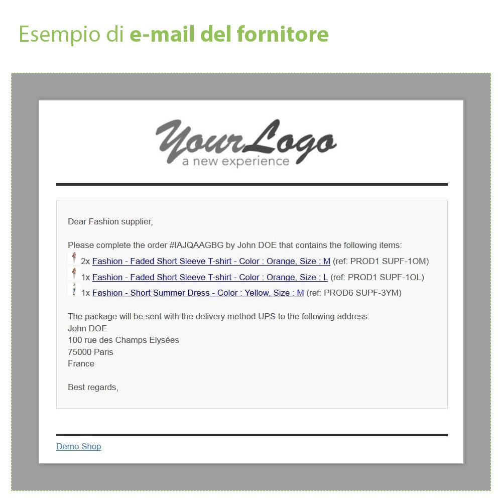 module - Dropshipping - Dropshipping - Email a Fornitori e Corrieri - 4