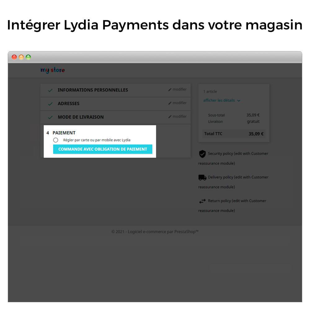 module - Paiement - Lydia Pro - Solution de paiement globale instantanée - 2
