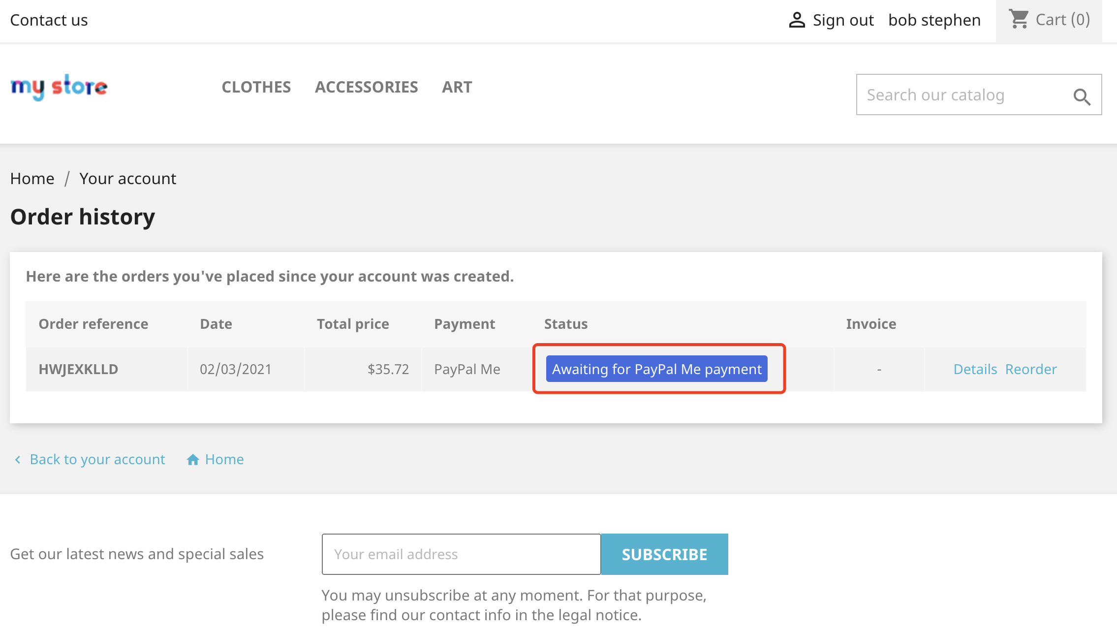module - Payment by Card or Wallet - PayPal Me - Payment gateway - 5
