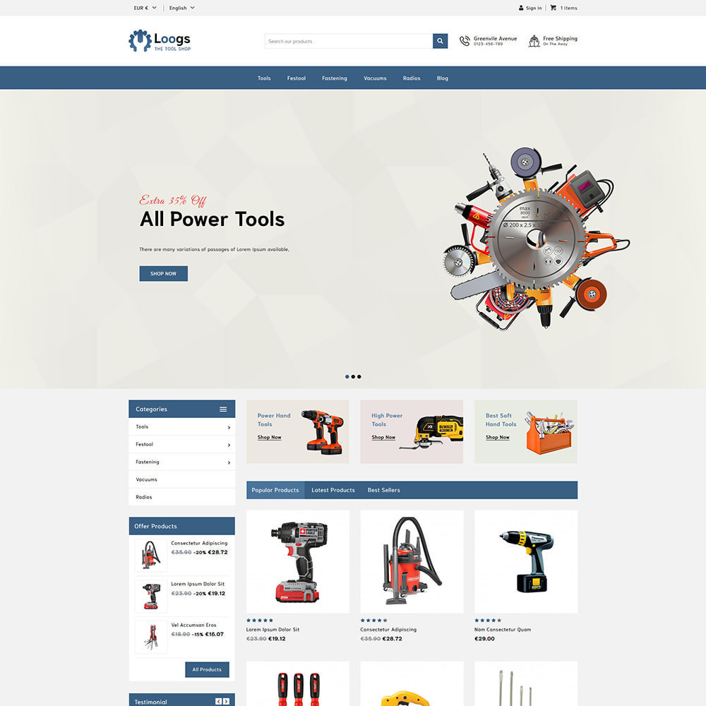 theme - Automotive & Cars - Loogs Home & Garden Tools - 1