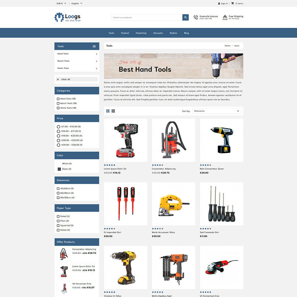 theme - Automotive & Cars - Loogs Home & Garden Tools - 2