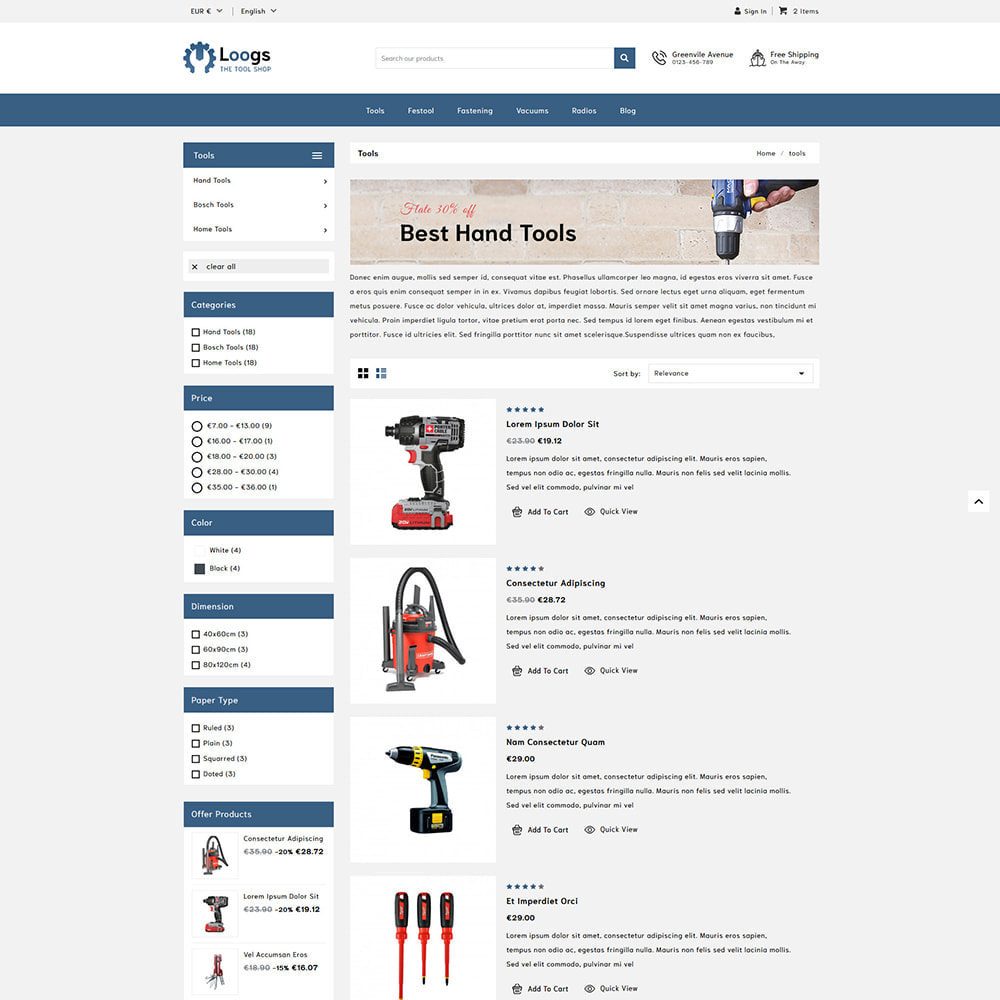 theme - Automotive & Cars - Loogs Home & Garden Tools - 3