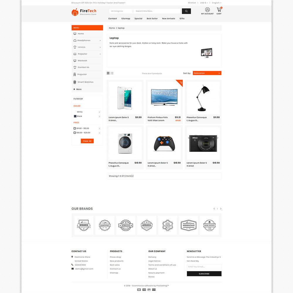theme - Электроника и компьютеры - FireTech - The Best Electronics Super Store - 3