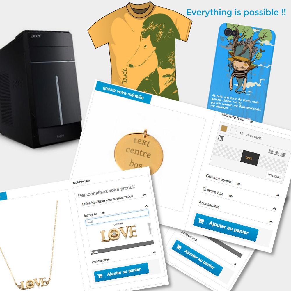 module - Combinaciones y Personalización de productos - Personalización, paquetes y opciones de productos. - 1