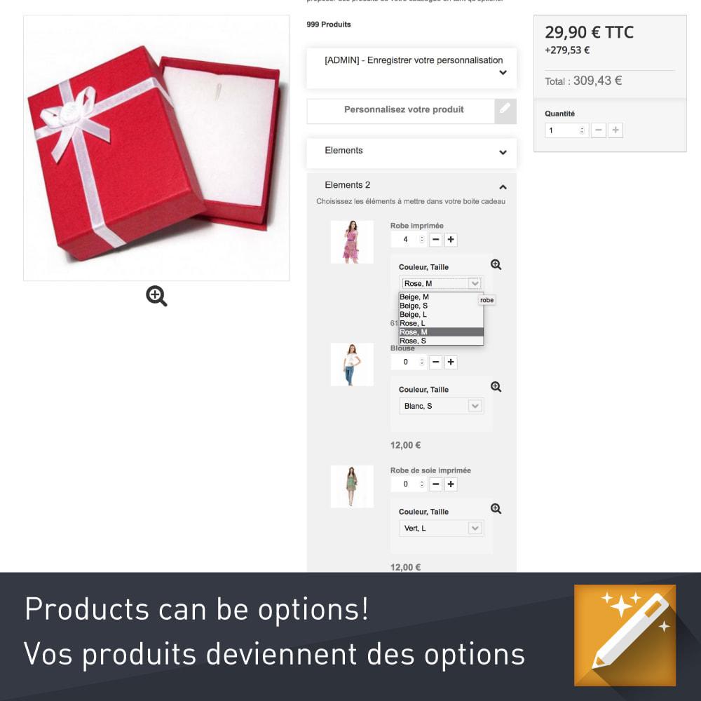 module - Combinaciones y Personalización de productos - Personalización, paquetes y opciones de productos. - 2