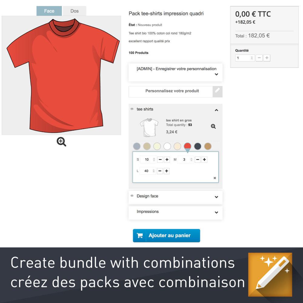 module - Combinaciones y Personalización de productos - Personalización, paquetes y opciones de productos. - 3
