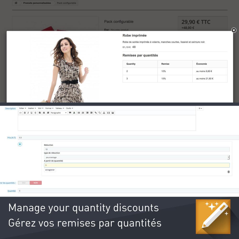 module - Combinaciones y Personalización de productos - Personalización, paquetes y opciones de productos. - 4