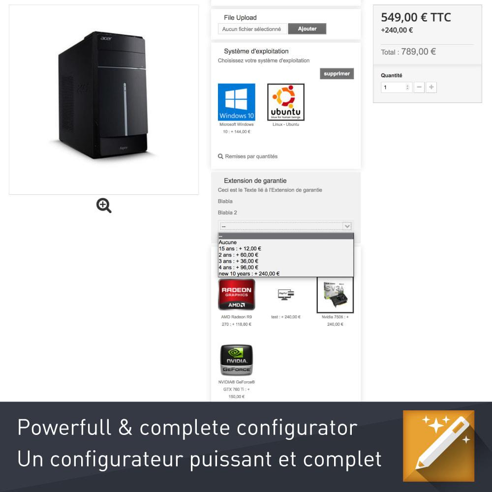 module - Combinaciones y Personalización de productos - Personalización, paquetes y opciones de productos. - 7