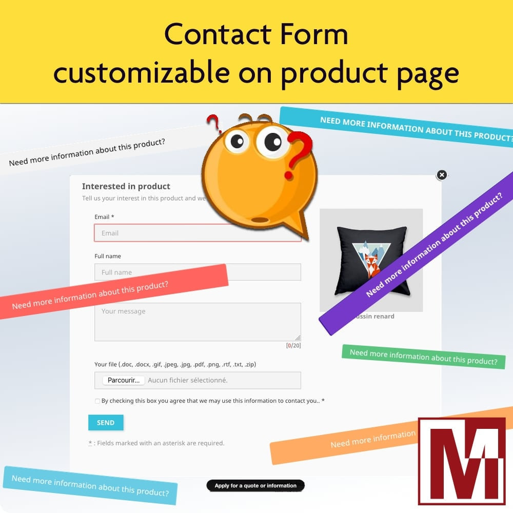 module - Форма обратной связи и Опросы - Dynamic contact form on product page - 1