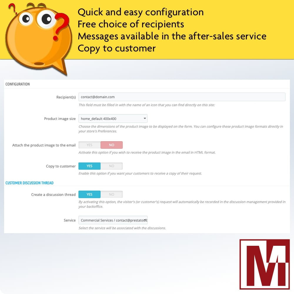 module - Форма обратной связи и Опросы - Dynamic contact form on product page - 2