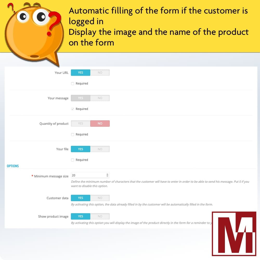 module - Форма обратной связи и Опросы - Dynamic contact form on product page - 8
