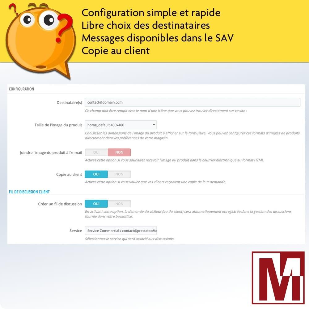 module - Formulaires de Contact & Sondages - Formulaire de contact dynamique sur page produit - 2