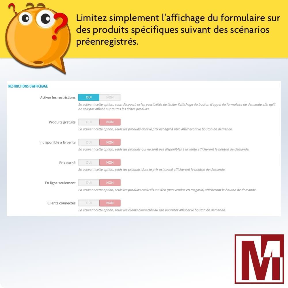 module - Formulaires de Contact & Sondages - Formulaire de contact dynamique sur page produit - 3