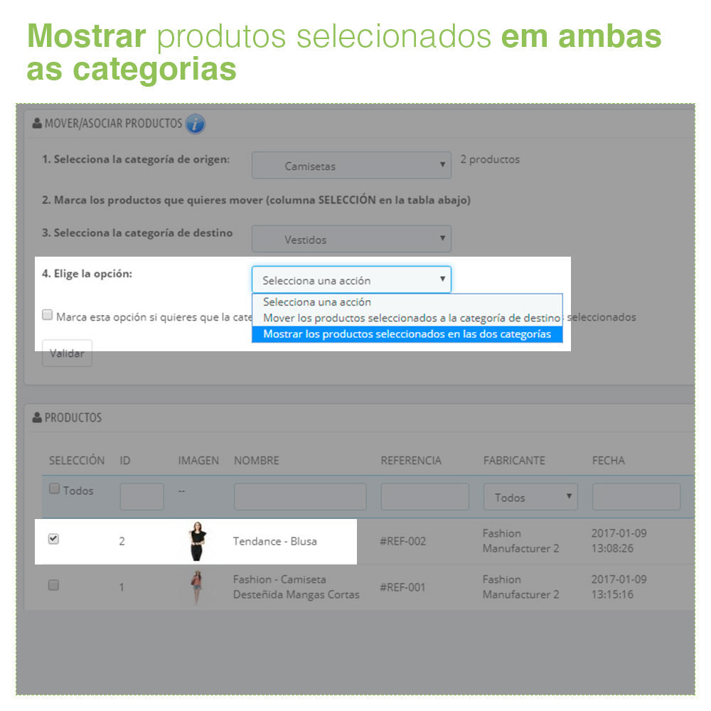 module - Administração - Mover e associar produtos entre categorias em massa - 6