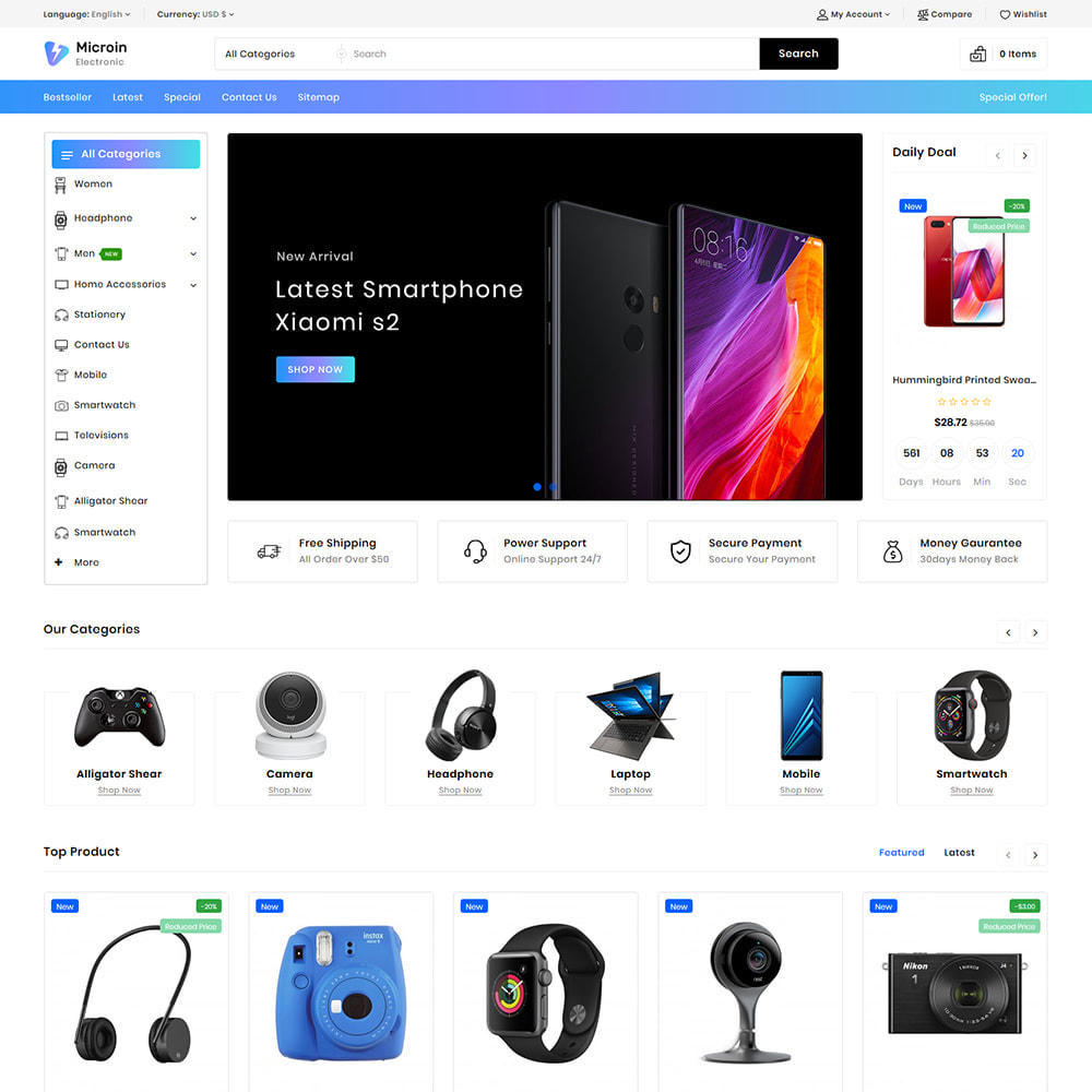 theme - Electrónica e High Tech - Microin - Best Electronics Store - 2