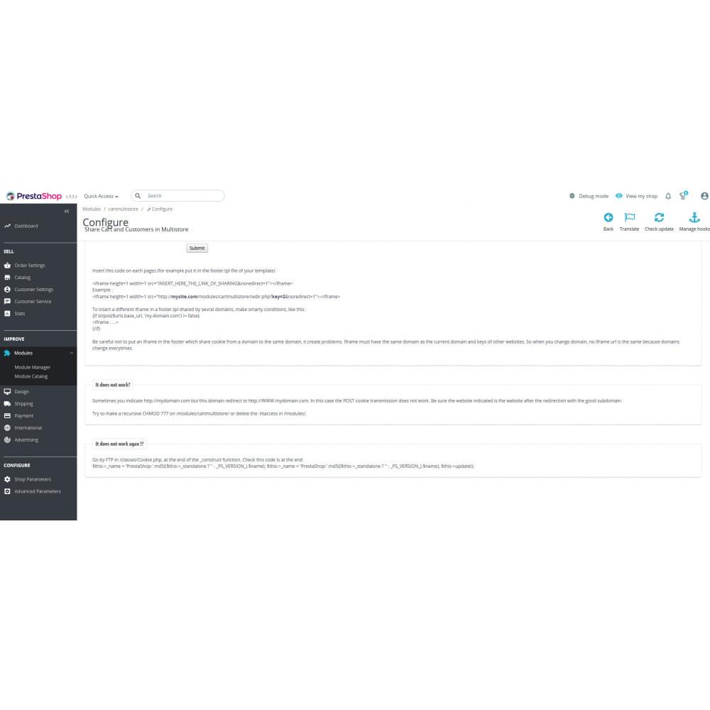 module - Administrationstools - Share Cart & Customer in Multistore cross domain - 3