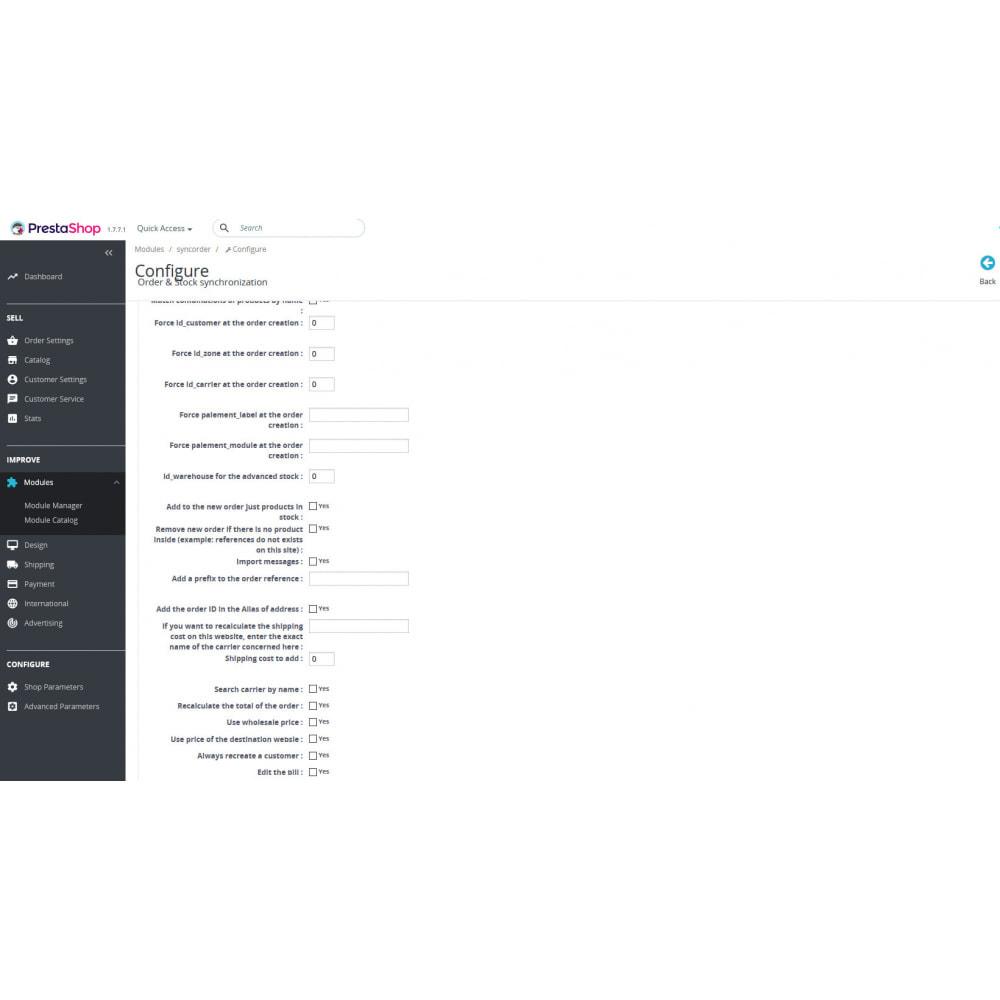 module - Gerenciamento de pedidos - SyncOrder&Stock - Synchronizes orders between 2 stores - 2