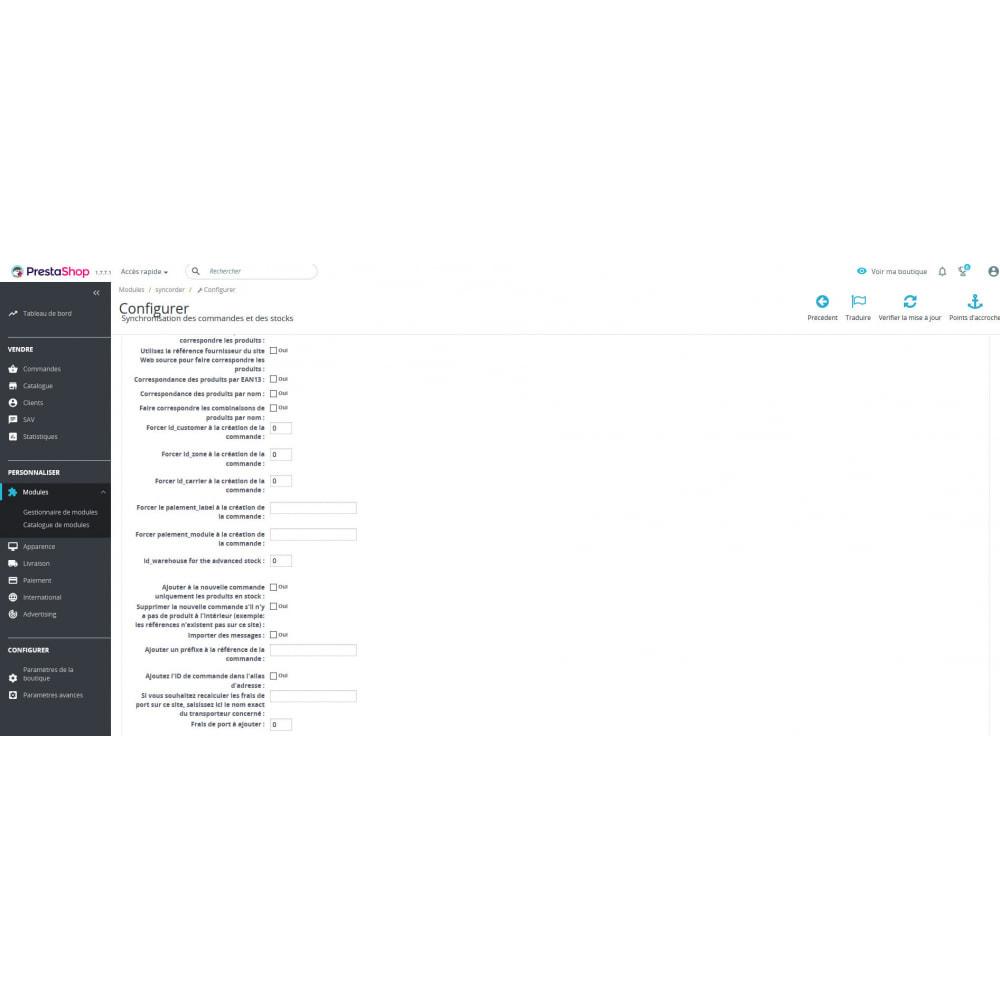 module - Gestion des Commandes - SyncOrder&Stock - Synchronise commandes et stocks - 2