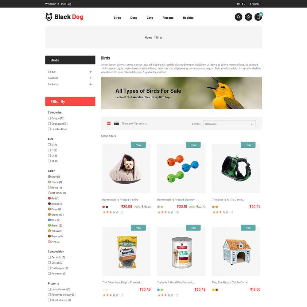 theme - Животные и домашние питомцы - Black Dog - Bird Pet Animal Food  Store - 3