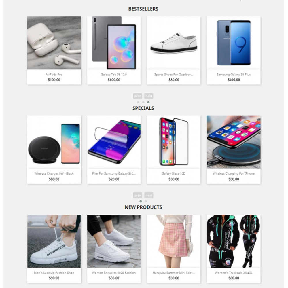 module - Sliders y Galerías de imágenes - Carousels Pack - Instagram, Products, Brands, Supplier - 1