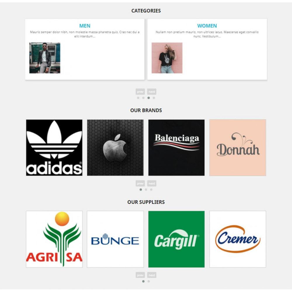 module - Slider & Gallerie - Carousels Pack - Instagram, Products, Brands, Supplier - 3