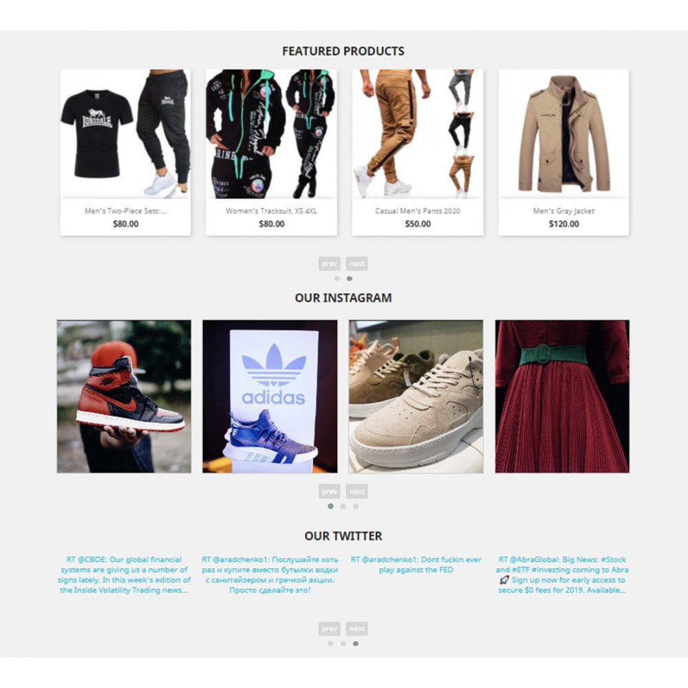 module - Slider & Gallerie - Carousels Pack - Instagram, Products, Brands, Supplier - 4