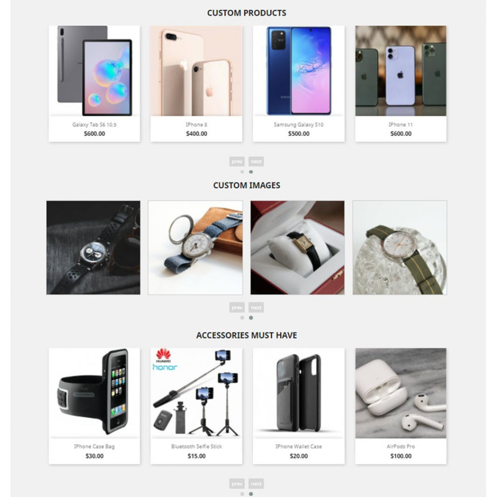 module - Slider & Gallerie - Carousels Pack - Instagram, Products, Brands, Supplier - 5