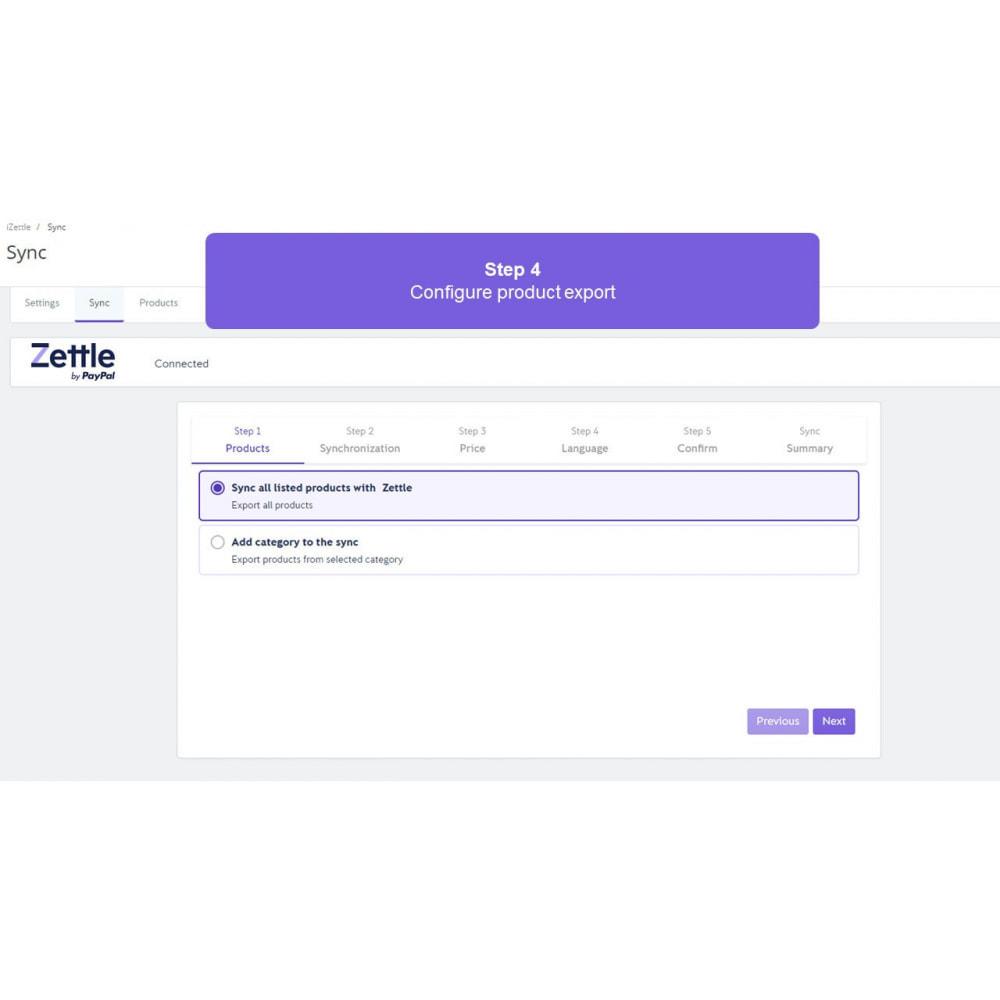 module - Importação & exportação de dados - Zettle by PayPal POS - 4