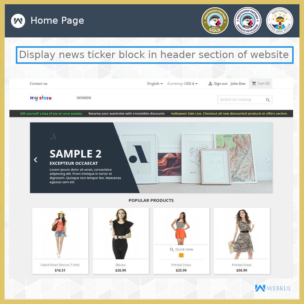 module - Инструменты навигации - News Ticker Block - News Scroll On Website - 4