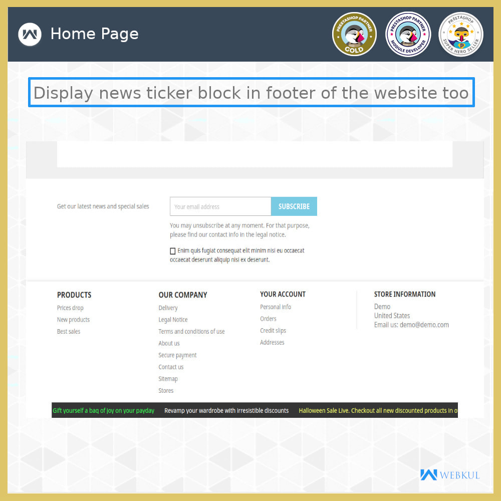 module - Инструменты навигации - News Ticker Block - News Scroll On Website - 5