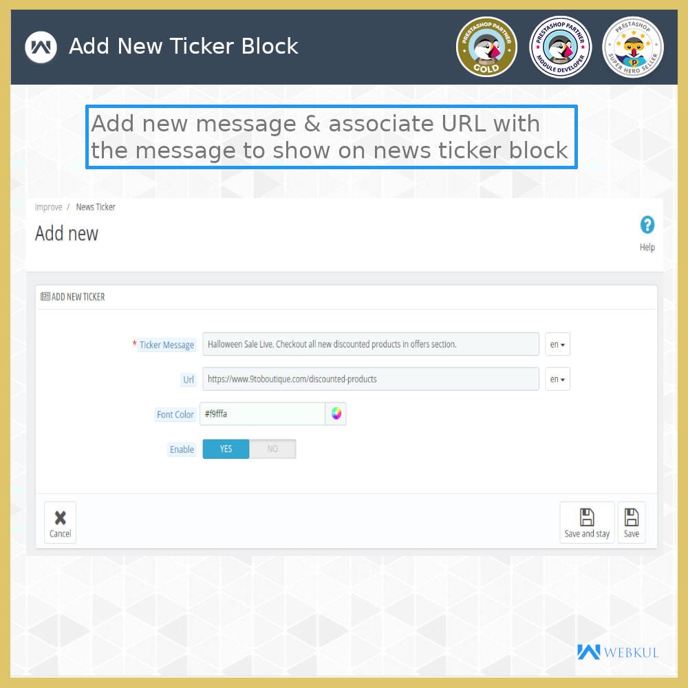 module - Инструменты навигации - News Ticker Block - News Scroll On Website - 6