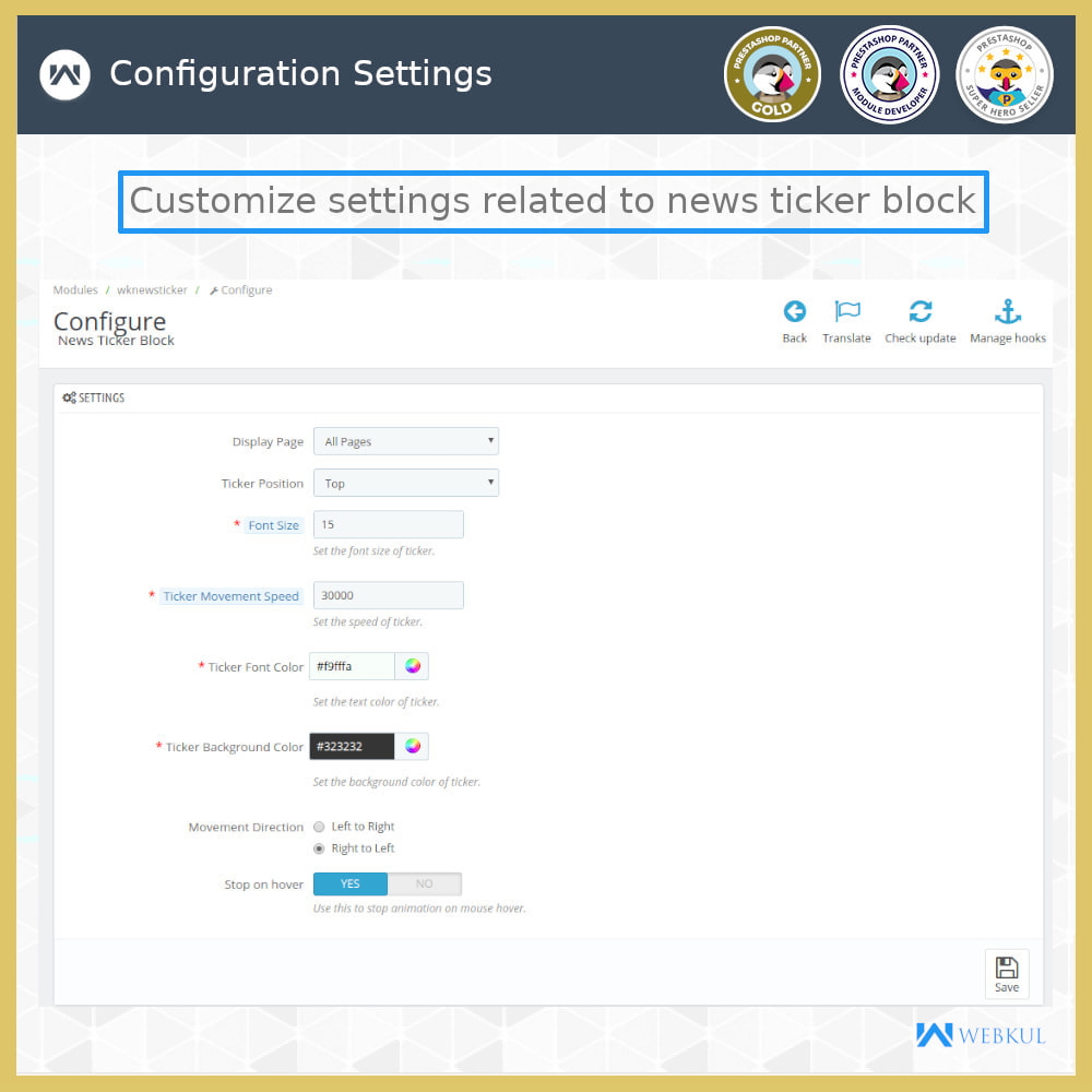 module - Инструменты навигации - News Ticker Block - News Scroll On Website - 8