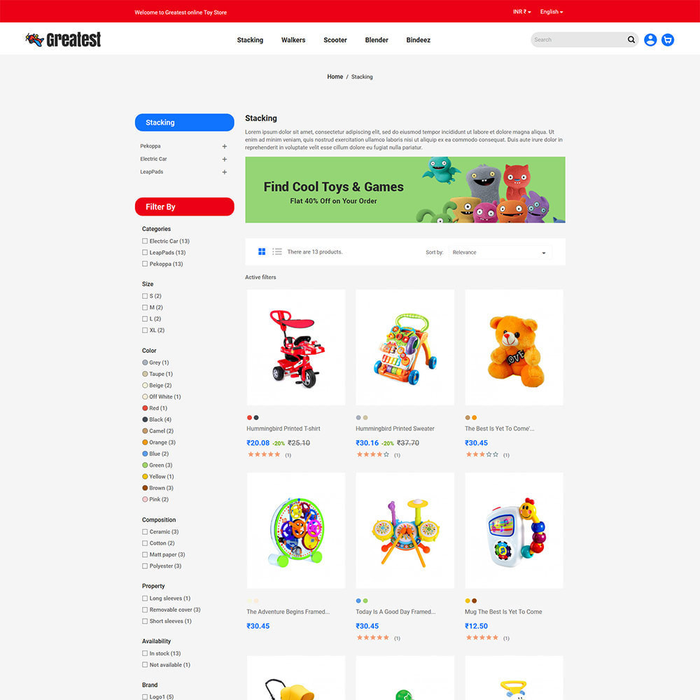 theme - Kids & Toys - Greatest Toy -  Puzzle Game  Kids Store - 3