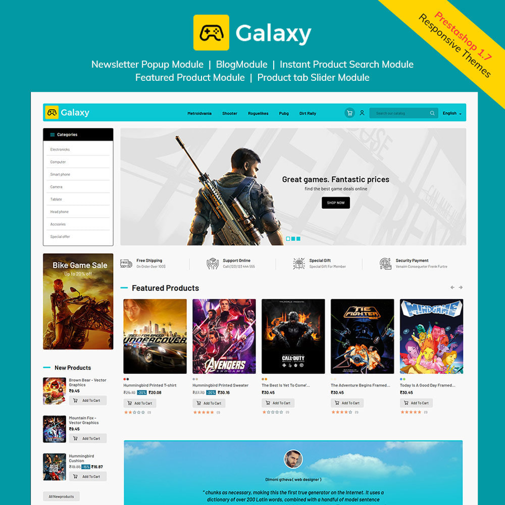 theme - Kids & Toys - Galaxy Game Zone - Digital Game Toy Store - 1