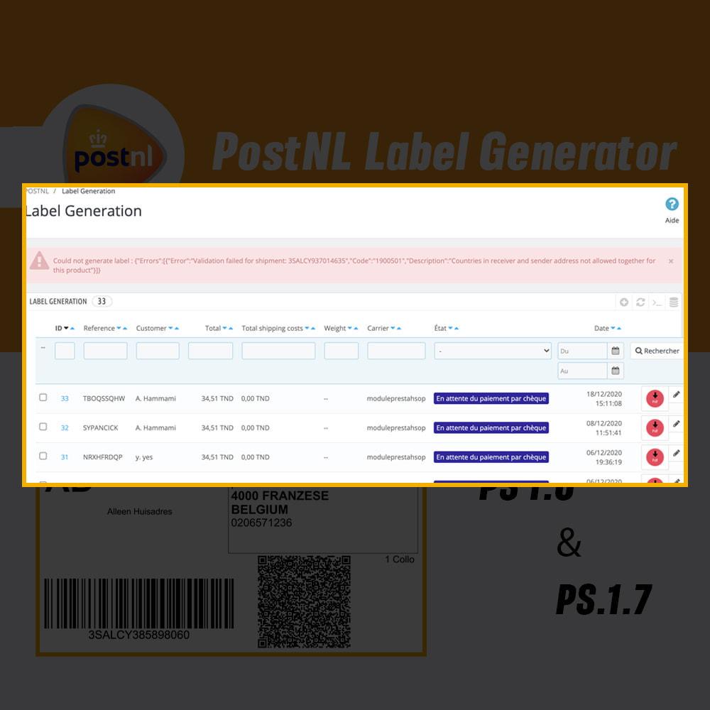 module - Préparation & Expédition - PostNL générateur d'étiquettes - 4