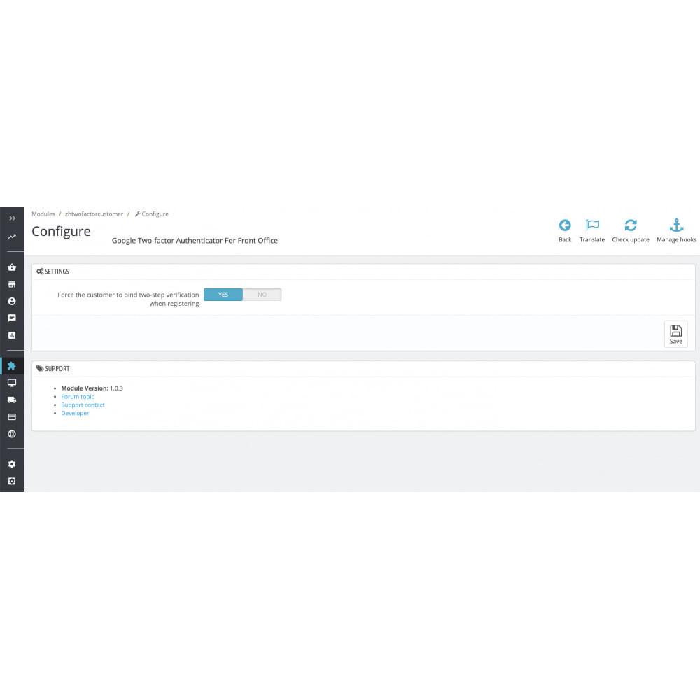 module - Sécurité & Accès - Google Two-factor Authenticator For Front Office - 2