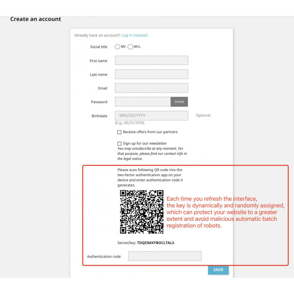 module - Sécurité & Accès - Google Two-factor Authenticator For Front Office - 3