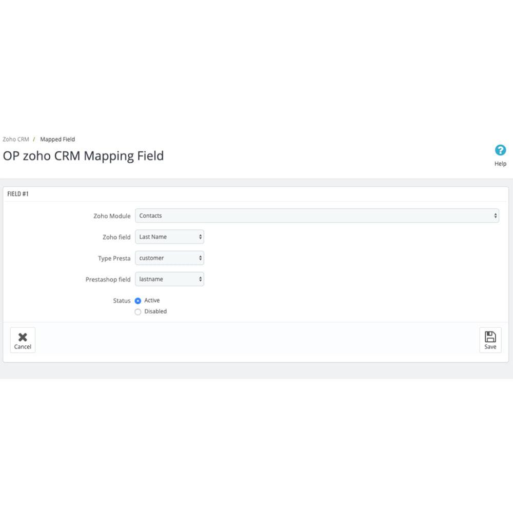 module - Connexion à un logiciel tiers (CRM, ERP...) - Zoho CRM - 3