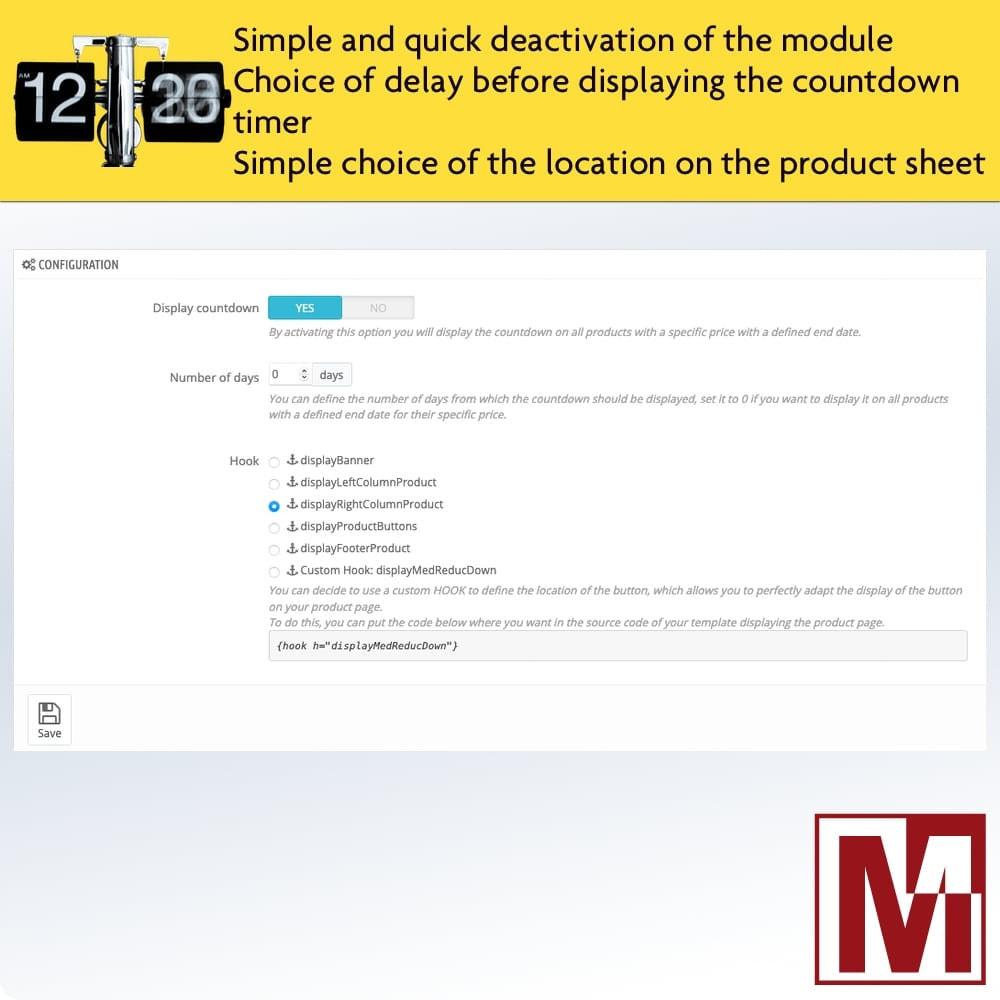 module - Ventas Privadas y Ventas Flash - Perfect Countdown - 2