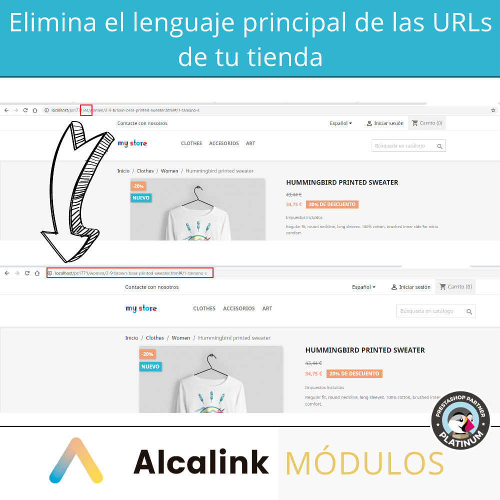 module - URL y Redirecciones - Eliminar lenguaje principal de URL - SEO - 2