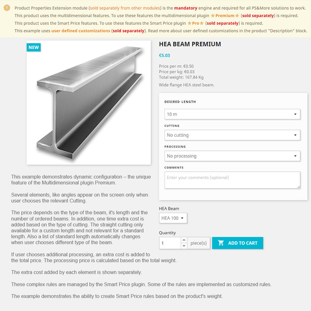 module - Управление ценами - Product Properties Extension Smart Price Plugin Basic - 1