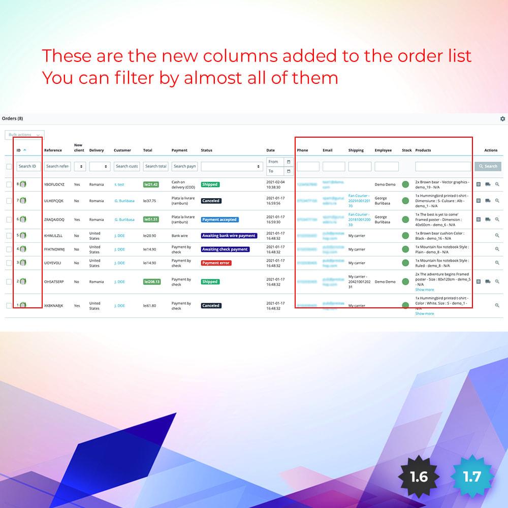 module - Cadastro e Processo de Pedido - Awesome Order List - Fast View Order - 3