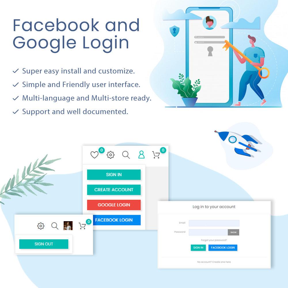 module - Boutons Login & Connect - Facebook & Google Login and Register - 1