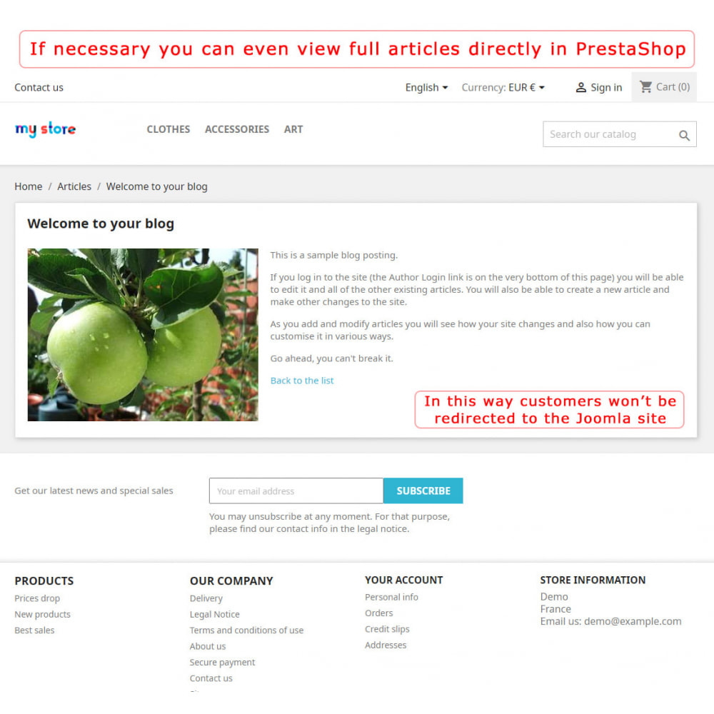module - Marktplätze - PrestaShop-Joomla! two-way integration - 5