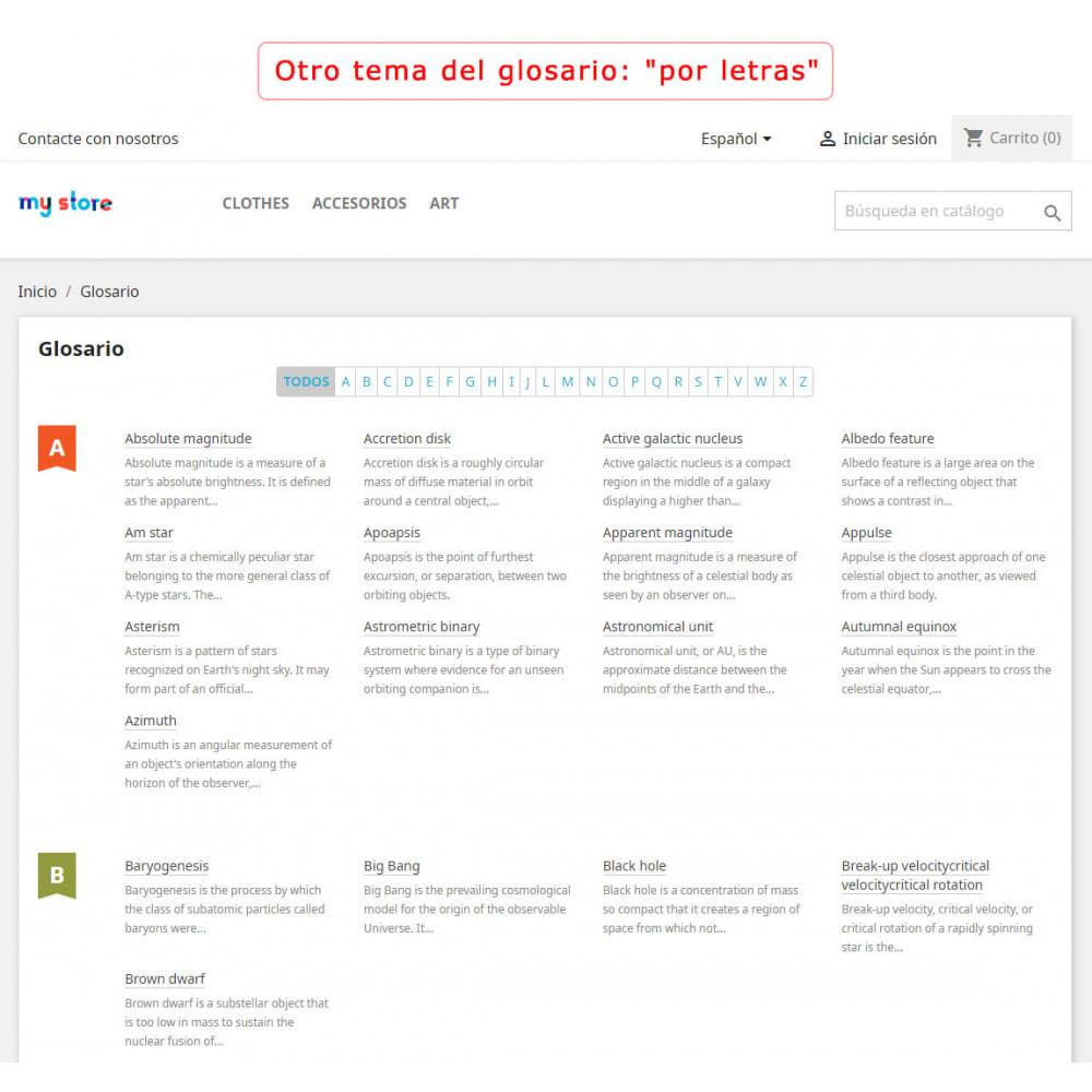 module - Personalización de la página - Súper Glosario - 2
