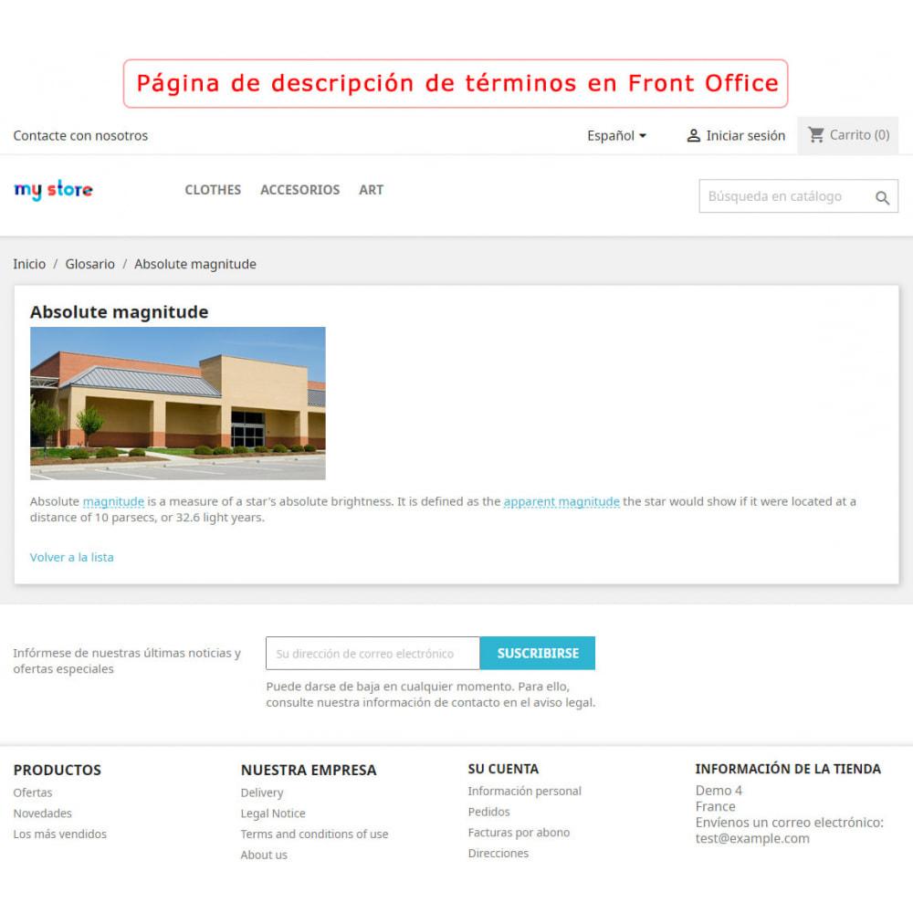 module - Personalización de la página - Súper Glosario - 4